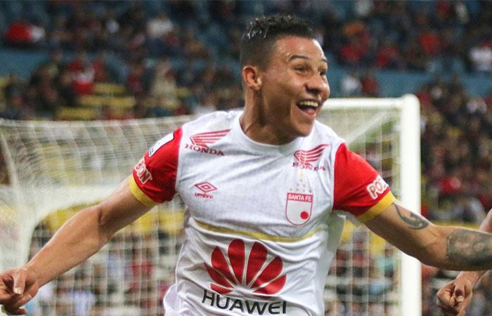 Luis Carlos Arias fue gran figura en Independiente Santa Fe. Foto: Twitter