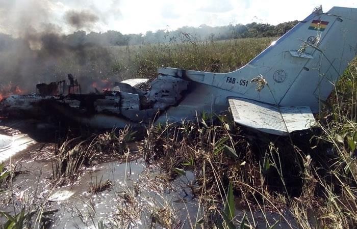 El accidente ocurrió en la región amazónica de Beni durante un vuelo humanitario. Foto: Twitter