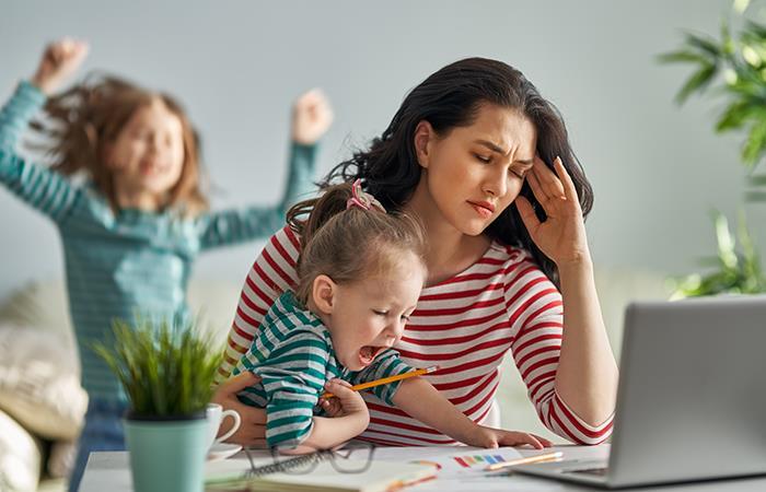 Estar con los hijos en casa es más pesado que salir a trabajar. Foto: Shutterstock