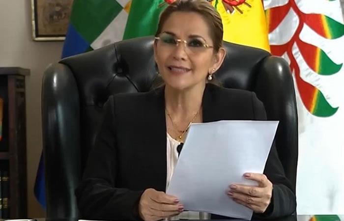 Presidenta Interina Jeanine Áñez. Foto: ABI