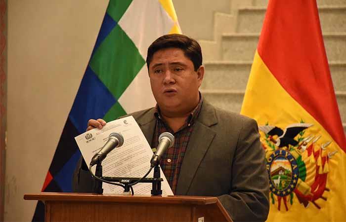 El Ministro de Trabajo hizo el anuncio oficial. Foto: ABI