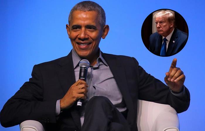 Expresidente de EE.UU. Barack Obama y su sucesor Donald Trump. Fotos: EFE.