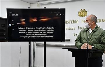 Ministro Murillo envía carta a Evo Morales para que deje de incitar a la violencia, el caos y la división
