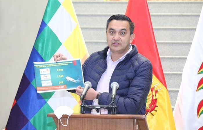 El gobierno boliviano informó de los traslados. Foto: ABI