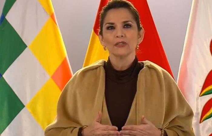 Presidenta interina de Bolivia, Jeanine Áñez. Foto: ABI
