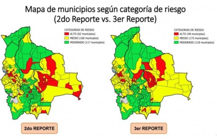 Reporte de coronavirus por municipio. Foto: ABI