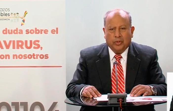 Virgilio Prieto dio estimaciones sobre la pandemia. Foto: Twitter