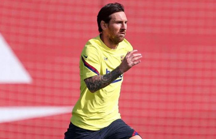 Messi sigue entrenando para la vuelta del fútbol en España. Foto: Instagram