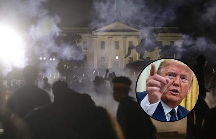 """Trump alabó el """"gran trabajo"""" del Servicio Secreto de la noche anterior frente a """"revoltosos"""". Foto: Twitter"""