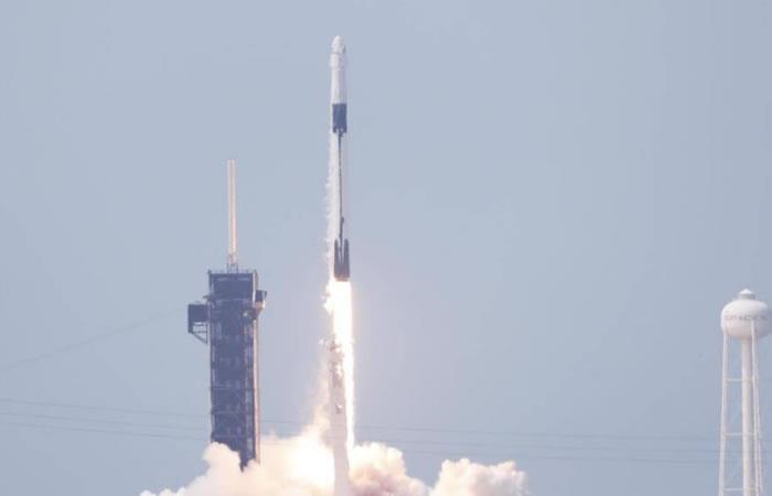 Arribar la nave espacial a la Estación se demoró 2 horas. Foto: @NASA TW.