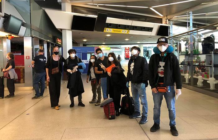 El vuelo para el regreso de todos los ciudadanos fue organizado por la AVUT desde Madrid. Foto: ABI