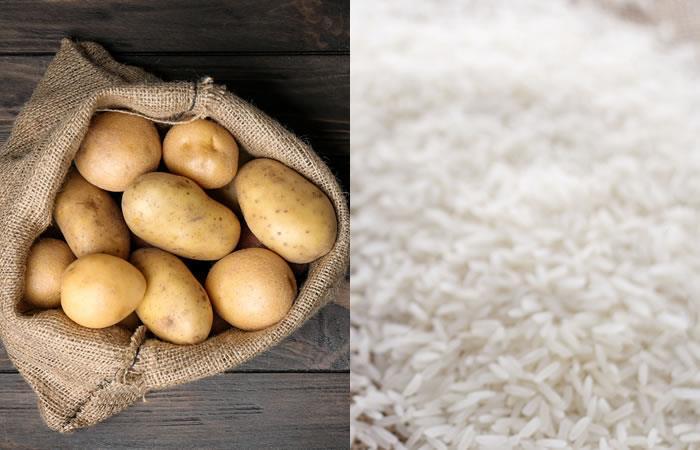 La papa y el agua del arroz sirven también para aclarar cualquier parte del cuerpo. Foto: Shutterstock