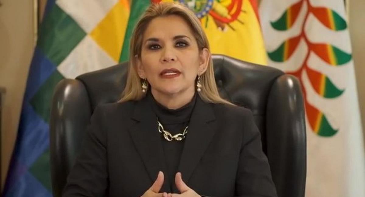 Presidenta Jeanine Áñez anunció la decisión de reducir su Gabinete Ministerial. Foto: ABI