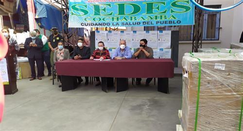 Gobierno central entrega respiradores mecánicos y camas de internación al Sedes Cochabamba