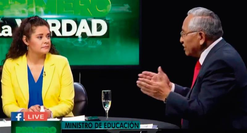 El Ministro estuvo en 'Primero la verdad'. Foto: Twitter @RadioIllimani