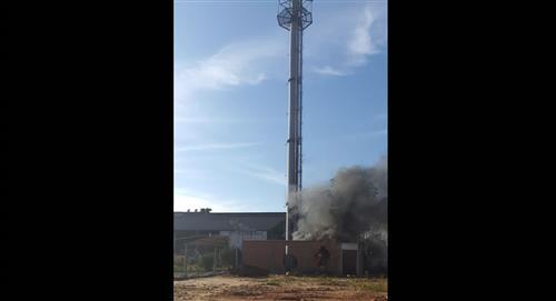 """Ministro de Defensa califica de """"terrorismo puro"""" los atentados contra antenas telefónicas y culpa al MAS"""