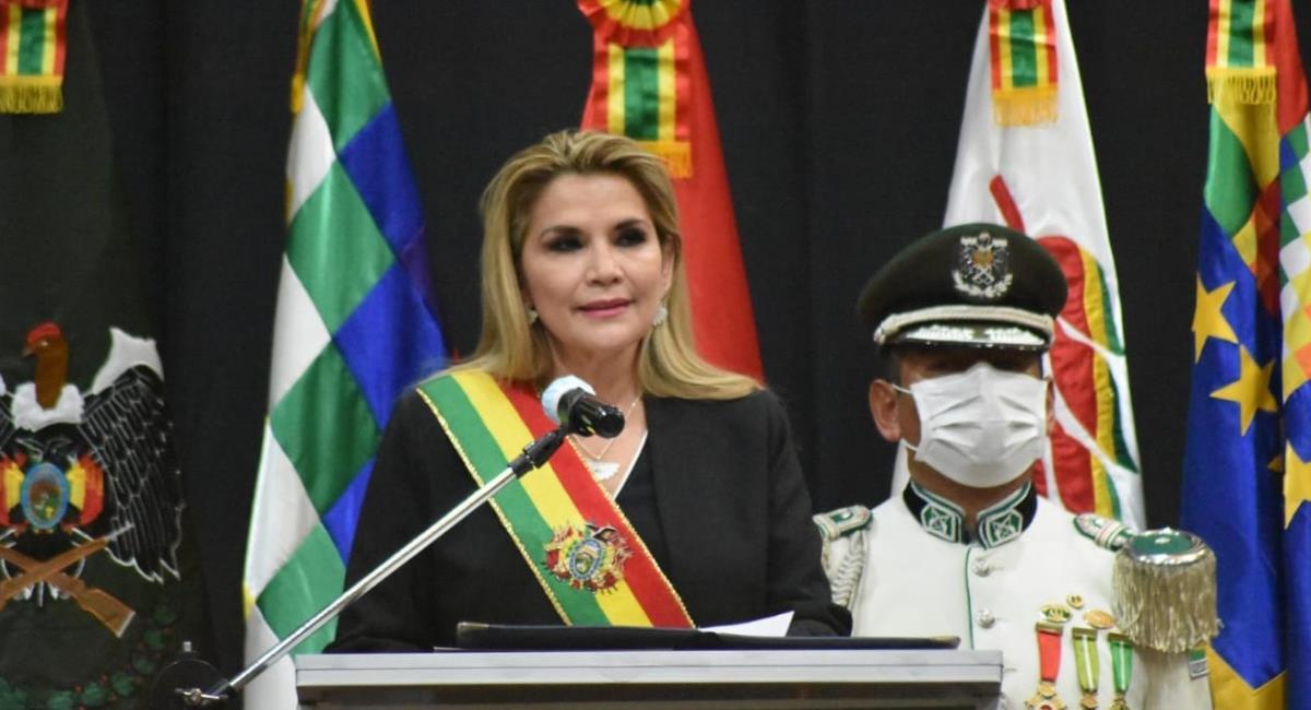 La presidenta hizo un llamado a la Policía a preparase para la violencia. Foto: ABI