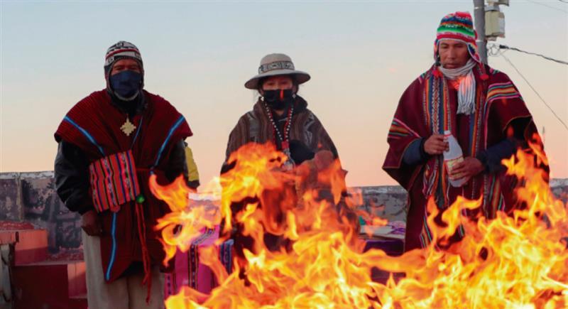 Un Año Nuevo Andino diferente. Foto: EFE
