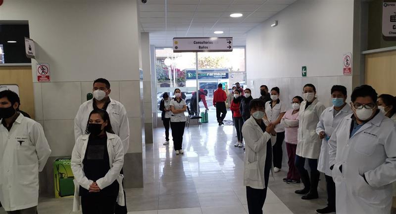 Instalaciones del recién inaugurado hospital del Norte. Foto: Twitter Alcaldía Cochabamba