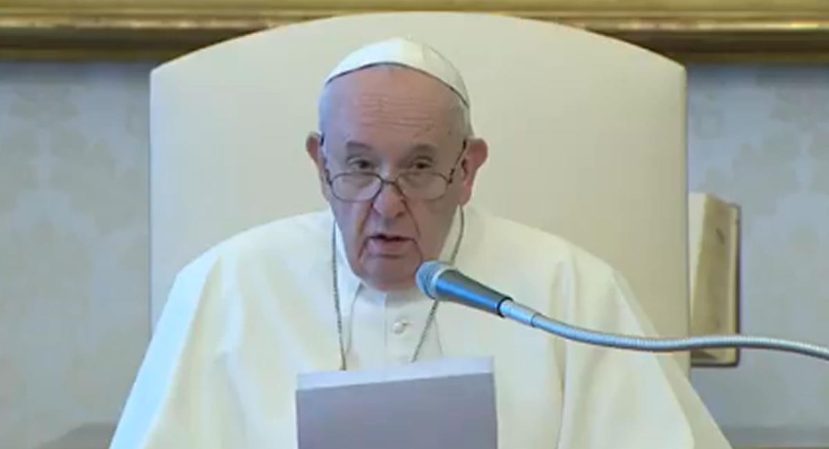 El papa pidió por las víctimas del sismo. Foto: Captura de video
