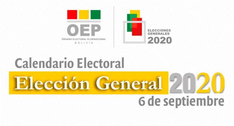El TSE publicó el Calendario Electoral. Foto: Órgano Electoral Plurinacional