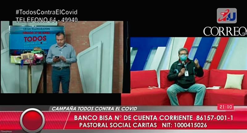 La Telemaratón fue un éxito. Foto: Twitter @abi_bolivia