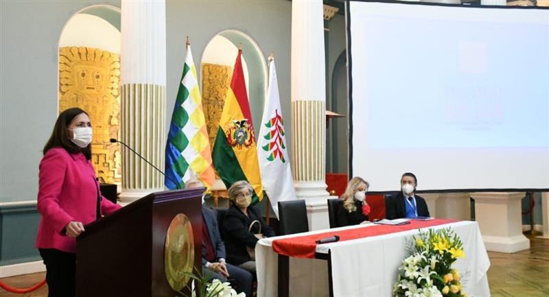 Lanzamiento de la agencia ProExport-Bolivia. Foto: ABI