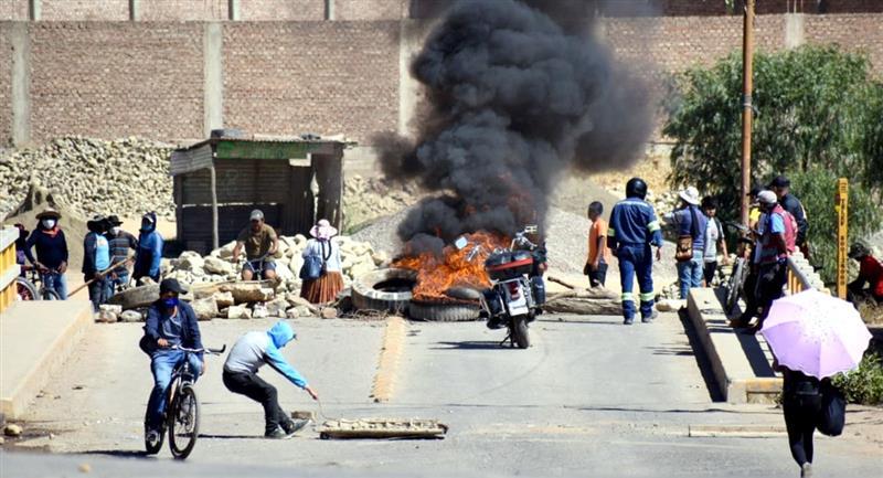 Conflictos en K'ara K'ara el mes de mayo. Foto: ABI