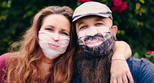Empresa belga crea barbijos personalizados que reflejan emociones