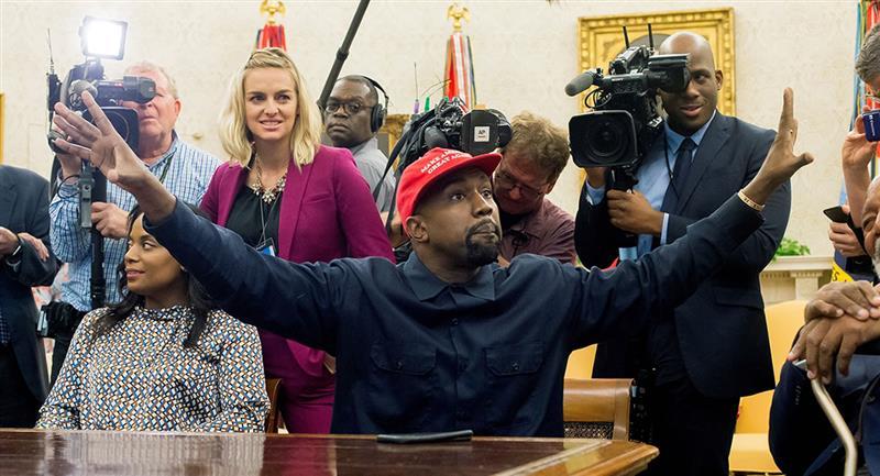 """West anunció en Twitter que estaba """"postulándose para presidente de los Estados Unidos"""". Foto: EFE"""