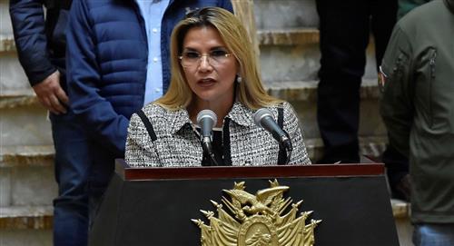 La presidenta interina de Bolivia Jeanine Áñez, padece la COVID-19 y guardará cuarentena