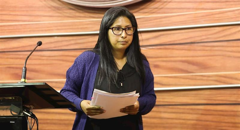 La presidenta del Senado, Eva Copa. Foto: EFE
