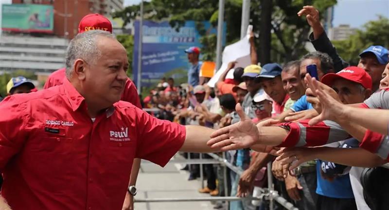 Diosdado Cabello, presidente de la ANC de Venezuela, dio positivo por coronavirus. Foto: EFE