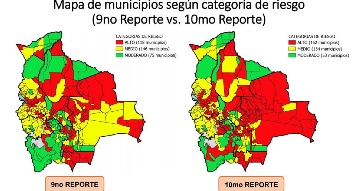 El reciente informe del Ministerio de Salud señala que existen 10 municipios con mayor riesgo de expansión del COVID-19. Foto: ABI