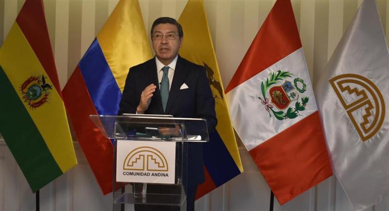 El secretario de la CAN, Jorge Hernando Pedraza. Foto: ABI