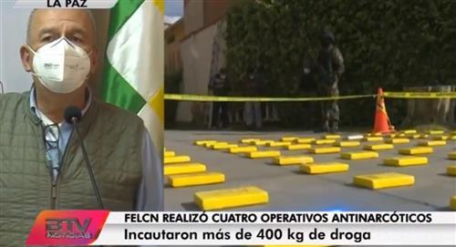 La FELCN reporta casi media tonelada de cocaína incautada el fin de semana