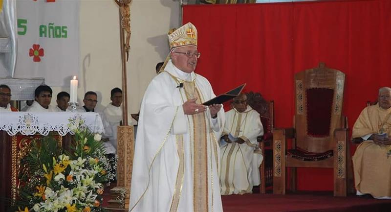 Monseñor Eugenio Escarpellini, obispo de la Diócesis de El Alto. Foto: ABI