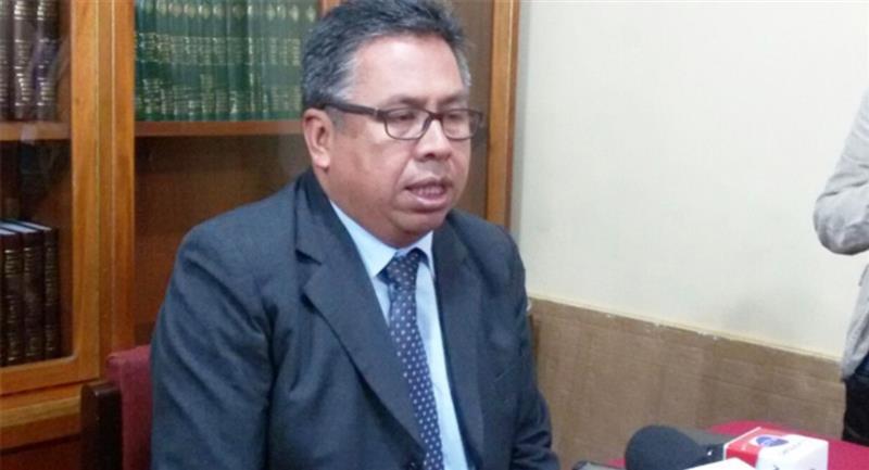 El presidente del Colegio Médico de La Paz. Foto: ABI