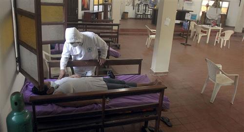 Una capilla recibe enfermos de COVID-19 en Bolivia en un gesto solidario