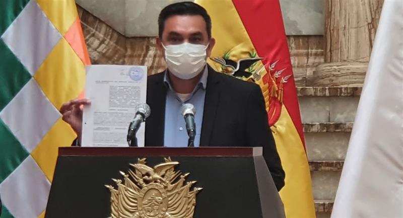 Ministro interino de la Presidencia, Yerko Núñez. Foto: ABI