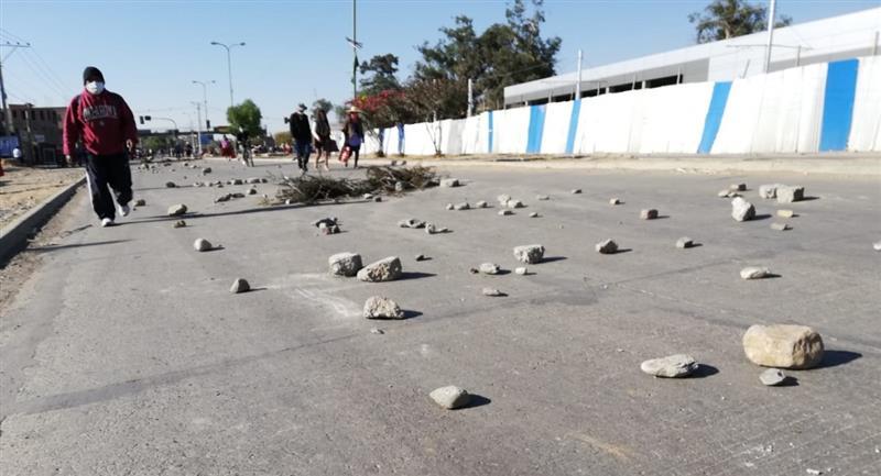 Sectores movilizados bloquearon las carreteras del país. Foto: ABI