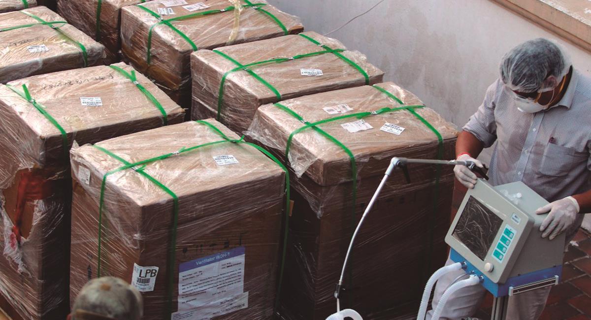 Bolivia busca incrementar capacidad de respiradores. Foto: EFE