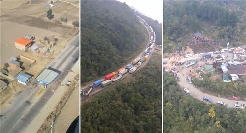 Viceministerio de Transportes reporta 60 puntos de bloqueo en cuatro regiones del país