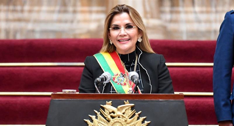 La presidenta Jeanine Áñez. Foto: ABI