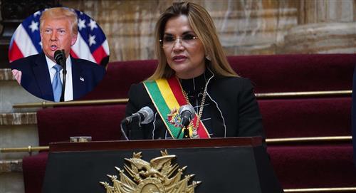Jeanine Áñez agradece a Donald Trump la donación de respiradores a Bolivia