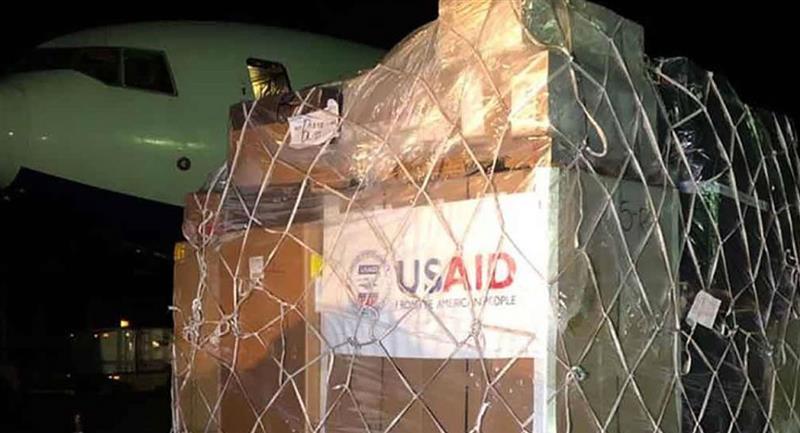 Donación de Estados Unidos para Bolivia. Foto: ABI