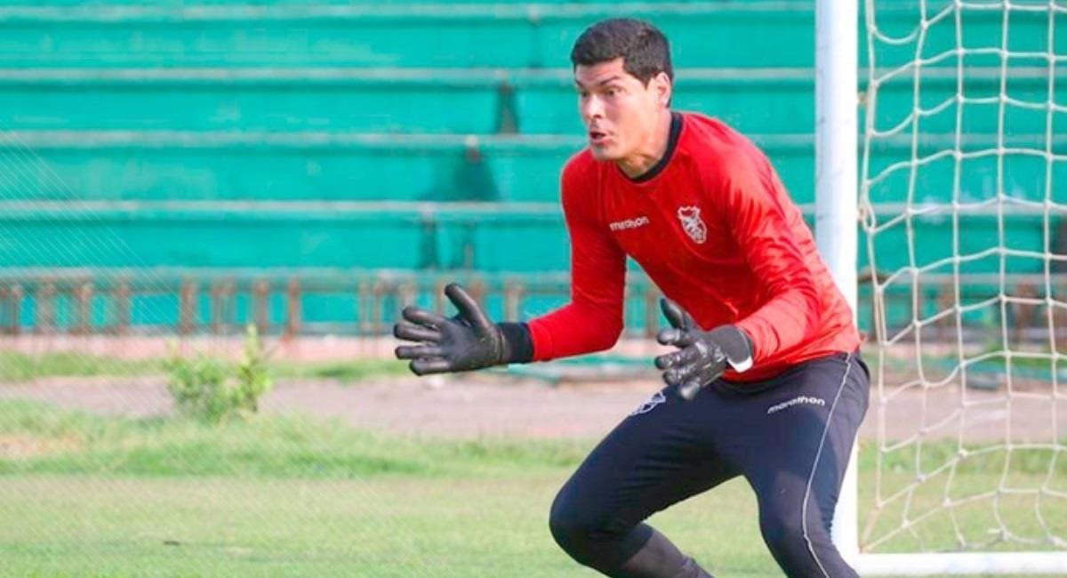 El portero de la selección nacional, Carlos Lampe. Foto: Twitter @laverde_fbf