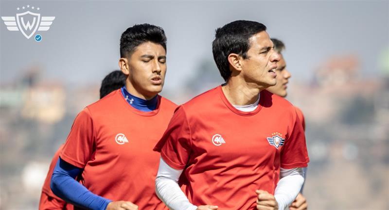 Jugadores de Wilstermann durante una práctica. Foto: Facebook @WilstermannClubDeportivo