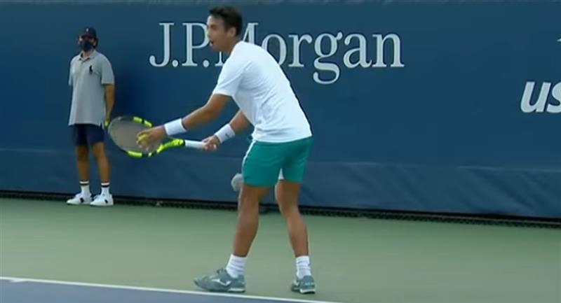Aunque Dellien dio dura pelea, no pudo definir los puntos clave para hacerse de los sets. Foto: Youtube / Captura US Open Tennis Championships
