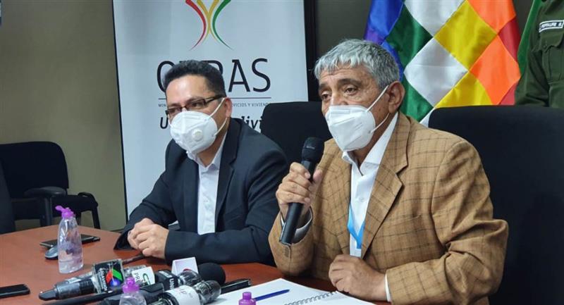 El ministro de Obras Públicas, Iván Arias. Foto: ABI